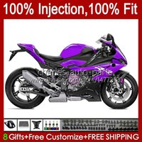 Injection Mold Body For BMW S-1000 New purple S1000 S 1000 RR S1000RR 19 20 21 22 Bodywork 21No.58 S 1000RR S-1000RR 2019 2020 2021 S1000-RR 19-21 100% Fit OEM Fairing