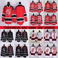 مخصص جديد جيرسي الشياطين الفانيلة RBK Jerseys 86 Jack Hughes 76 PK Subban 30 Martin Brodeur تخصيص أي رقم أي اسم Hockey Jersey