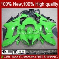 Kroppsarbete för Kawasaki Ninja ZX-600 ZX 6R 600 CC 600cc 6 R 07-08 Body 10No.133 ZX-6R ZX600C ZX636 2007 2008 ZX 636 ZX600 ZX-636 ZX6R 07 08 Motorcykel Fairing Kit Factory Green