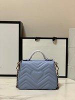 التسوق حمل 7a أعلى جودة المرأة حقيبة marmont الفضة الأجهزة جلد طبيعي حقيبة الكتف حقيبة 547260 سيدة الأزياء crossbody أكياس صغيرة