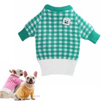 Pet Dog Apparel Korean Tusi Lattice Knitwear Sweater Warm Jackets Sweatshirts Outerwears Winter Pets Coat Soft Sweaters Clothing for Small Dogs Chirstmas X A19