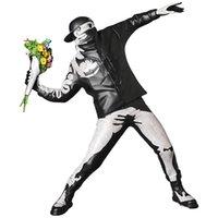 Banksy Flower Bomber Resin Figur England Street Art Wurf Blume Skulptur Statue Bomber Polystone Figur Sammlerkunst