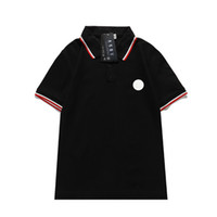 2021 Mens Polo Şerit Ekleme T Gömlek Yüksek Kalite Pamuk Polo Mektup T Shirt Tasarımcı Rahat T-shirt Tee Polo Tops