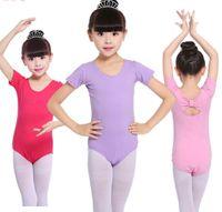 Niños ballets danza uniforme de baile prenda de baile rendimiento niño ropa de espalda arco de manga corta Ballet uniformes disfraz de niños A5838
