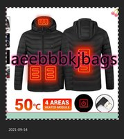 Men's Down & Parkas 4 Area Men Winter Heated Jackets Ski Jacket Outerwear Hunting Clothing USB Electric Vest Motorcycle Warm Hiking