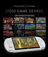 X9 Console de jeu vidéo 5.0 pouces Grand écran de poche de poche de pochette de poche Support TV OUT OUT OUT avec MP3 / MODIF Caméra Multimédia