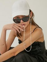 Chains Simple Baroque Natural Fresh Water Pearl Letter Multifunctional Color Mask Chain Non-slip Eyewear