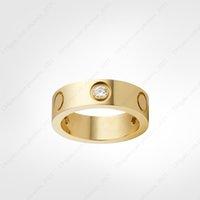 Любовь винтовые кольца мужские кольца 3 бриллиантов дизайнер роскошные ювелирные изделия женские титановые стальные сплавы позолоченные ремесло золото серебряные розы никогда не исчезают не аллергически