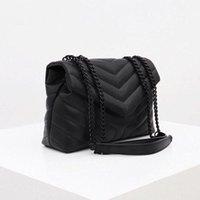 2021 luxury handbag shoulder bag brand LOULOU Y-shaped designer seam leather ladies metal Chain high quality clamshell messenger gift box wholesale