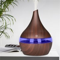 300ml Usb Electric Aroma Air Diffuser Wood Ultrasonic Humidifier Cool Mist Maker for Home