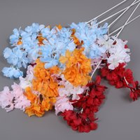 Silk Gypsophila Artificial Flowers for Decoration Home Plastic Stem Bride Wedding Bouquet Mariage Cherry Blossom Fake Flower DIY ZZE5159