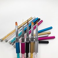 Nail Brushes 5 Styles Art Brush Liner Gel Painting Pens Manicure Charms UV Flat Oblique Beauty Tool