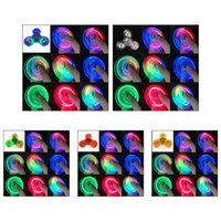Trasparente LED Licht Fiet Hand Top Spinner EDC Spiner Vinger Stress Silver Geinteren Volwassen Speelgoed