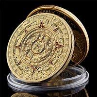 """Messico Mayan Aztec Calendario Art Profecy Cultura 1.57 """"* 0,12"""" Gold Coins Collectibles"""