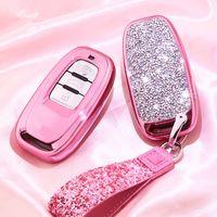 الفاخرة الماس كريستال سيارة مفتاح غطاء القضية شل لأودي A1 A3 A4 A5 A6 A7 A8 Quattro Q3 Q5Q7 2009 2012 2012 2012 2014 2014 2015 2015