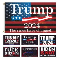 US STOCK 19 Style 2024 Trump Biden Flag 90*150cm US Presidential Election Flag Polyester pongee Material Trump 2024 Flags Banners