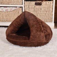 2019 mascota perro gato triángulo cama house cálido suave estera ropa de cama cueva cesta kennel lavable nido y200330 741 k2
