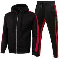 Men's Tracksuits Zipper Suit Sportswear Mesh Spot Hooded Spring Clothing Streetwear Hip-Hop Two-Piece 3xl