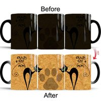 Mugs Anime Cartoon Color Changing Mug Ceramic Heated Water Temperature Gradient Magic Coffee Discoloration Cups Kitchen Tableware