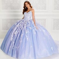 Sparkly Quinceanera Dresses With Cape 2021 Spaghetti Straps Sweet 15 Princess Party Ball Gown Lace Appliques Beads 3D Flowers Girls Masquerade Gowns