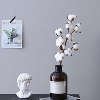 Decorative Flowers & Wreaths INS Style Dried Cotton Eucalyptus Artificial Plants Floral Branch For Wedding Party Decoration Fake Home Decors