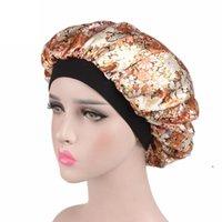 Satin Dusche Schlafkappe Frauen Monochrome Nightcap Lace Haarpflege Hut Satin Schlafkappe Haar Schönheit Elastische Badkappen Dwe5044