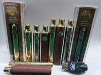 En iyi Vape Pirinç Knuckles Pil 650 MAH 900 mAh Altın Ahşap Değişken Gerilim Ayarlanabilir E-Sigara Pil Kalem 510 Için Konu Kartuş