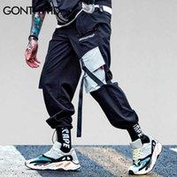 Bolsos Gonthwid Cargo Harem Calças Mens Calças Casuais Baggy Calças Táticas Harajuku Streetwear Hip Hop Moda Swag 210616