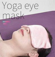 Mascarilla de satén de la almohadilla de la almohadilla del ojo de la lavanda del frío de la lavanda para el yoga, dormir, migrañas, estrés, relajación