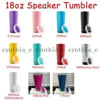 11 Colors 18oz Creative Wireless Music Tumblers Waterproof Stainless Steel Water Bottle Speakers Portable Sublimation Speaker tumbler