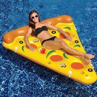 بركة الاكسسوارات نفخ البيتزا السباحة يطفو ألعاب المياه السباحة الدائري للمتعة الكبار الهواء فراش