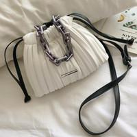 SWDF Designer Frauen-Taschen 2021 Kordelzug-Eimer-Tasche mit dicker Kette Crossbody Bag Damen kleine Handtasche