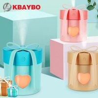 KBaybo 350 мл Симпатичный подарок Увлажнитель USB Электрическая ультразвуковая ароматерапия Диффузор эфирного масла с 7 цветами светодиодных фонарей