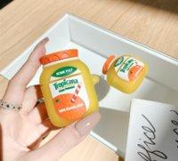 عصير البرتقال ماركة homestyle مشروب اللاسلكية بلوتوث سماعة القضية ل airpods برو 2 لطيف 3d زجاجة لينة سيليكون غطاء سماعة