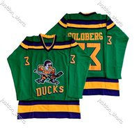 96 Charlie Conway The Mighty Lucks Moive Hockey Jersey 33 Grig Goldberg 99 Adam Banks 66 Gordon Bombay 44 Reed Instock Double Stitched Shirt