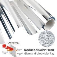 Adesivi per finestre Argento Mirror Sun Heat Heat Protezione UV riflettente Termica Tesistant Control Isolamento per animali domestici