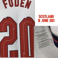 Home Têxtil 2021 Correspondente Jogador desgastado Edição Esterlina Kane Montagem Foden Grealish com jogo MatchDetails Maillot Soccer Patch Badge