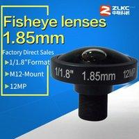"""New design CCTV lens 1 1.8"""" F2.0, 1.85mm fish eye lens, lens for CCTV Surveillance cameras, 12 megapixel HD m12 mount1"""