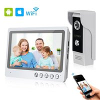 Video Door Phones 9'' Color WiFi Phone Wireless Intercom System Home Wired Doorbell Camera + Monitor Support Remote Unlock