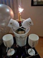 Champagne copo coquetel copo de vinho gabinete de vinho gallet plástico branco acrílico champanhe cubeta 2 xícaras1 gelo refrigerador