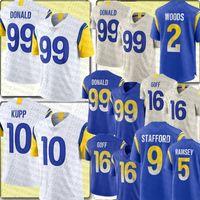 """99 Aaron Donald 10 Cooper Kupp Jersey Los 9 Matthew Stafford Angeles Jared Goff Rams """"Jalen Jalen Ramsey Robert Whitworth 00"""