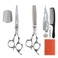 """Hair Scissors Univinlions 6"""" Cutting Shears For Home Barber Accessories Razor Comb Professional Hairdressing Salon Clippers"""