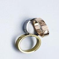 고품질 4mm 5mm 티타늄 강철 반지 숙녀 및 남성 Couples 기념일 결혼 선물
