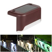 Solar Lamps Outdoor Fence garden Pathway Wall Light Waterproof Railing stair Step Lamp Use For Patio Stairs Garden Pathway In Stock