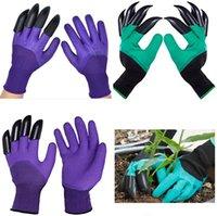 NeueWaterproof Gartenhandschuhe mit Krallen für Frauen und Männer Gartenbedarf im Freien Gräben Anpflanzung von Jäten Samen verdickten Schutz6002