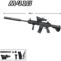 M416 Water Bullet Toy Gun Manual Automatic in 1 Airsoft Sniper Rifle Colorful CS Shooting Game Boys Birthday Gift