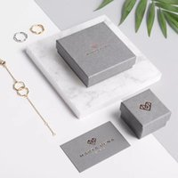 Gift Wrap Small 500pcs Personalised Rigid Boxes Wholesale Custom Packaging For Jewelry Recyclable Paper