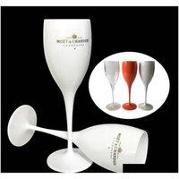 Moet-Cups Acryl unzerbrechlicher Champagner Weinglas-Kunststoff-orangefarbenes weißes Moet Chandon Weinglas Eis imperial Weingläser Becher Pospv