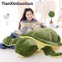 Фаршированная плюшевая огромная 150см Зеленая черепаха плюшевая игрушка мультфильм черепаха мягкая кукла спящая подушка подарок на день рождения S0874