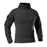 Men's Casual Shirts Tactical Clothing Long Sleeve Combat Shirt Men Black SWAT Soldiers Paintball